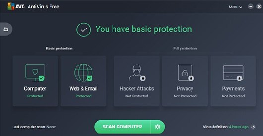 تحميل برنامج الحماية ومكافحة الفيروسات AVG Antivirus Free
