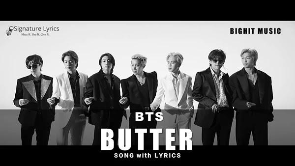 BTS - Butter Lyrics / Butter Song Lyrics