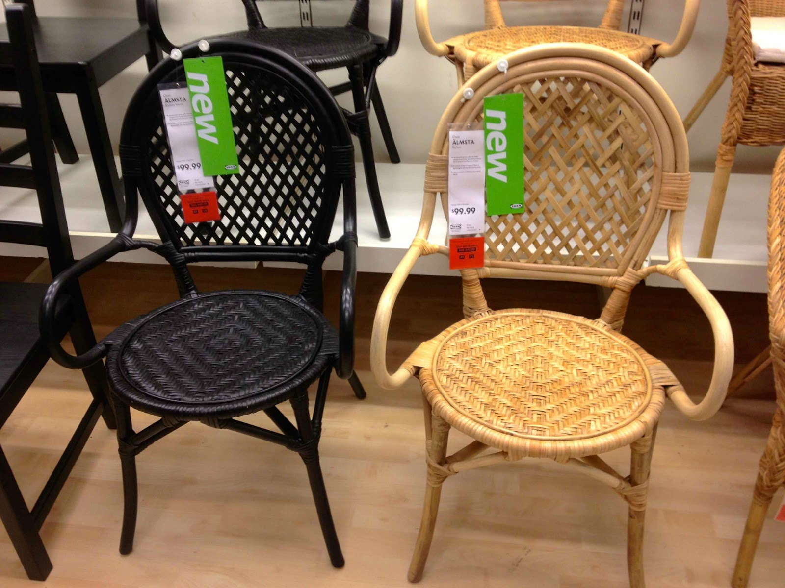 New finds at ikea driven by decor - Wicker dining chairs ikea ...