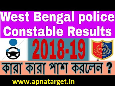 WB Police Constable Result 2019