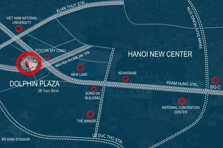 vị trí  Dolphin Plaza Mỹ Đình