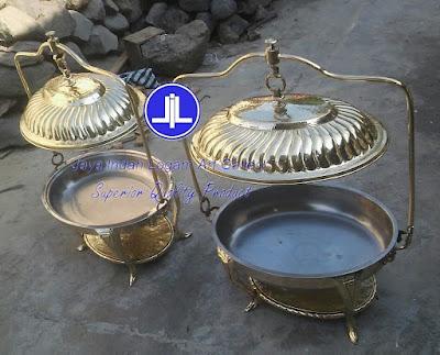 Produk kerajinan tembaga dan kuningan - Chafing dish oval - bahan kuningan
