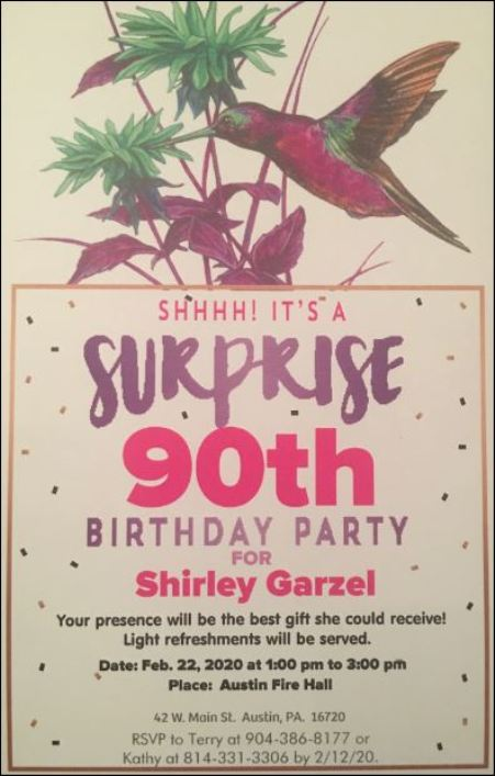 2-22 Surprise Birthday Party for Shriley Garzel