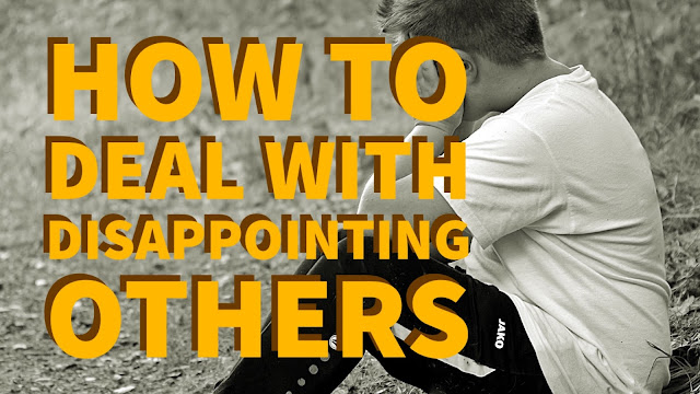 Christian blog on disappointing others