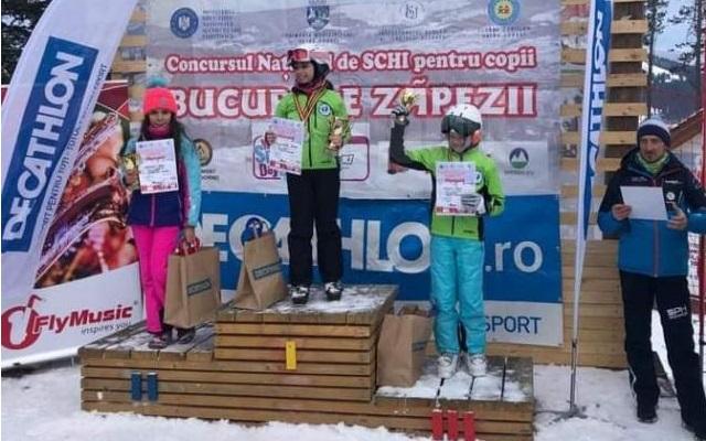 """Pârtia """"Veveriţa"""" a fost gazda concursului naţional de schi alpin pentru copii """"Bucuriile Zăpezii"""""""