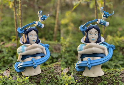 Tenacious Toys Exclusive Dirty Snow Ice Queen Edition Vinyl Bust by In Prime We Trust x Strangecat Toys