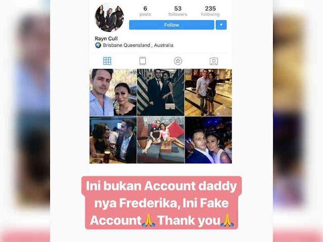 Yulia Ungkap Akun Instagram Palsu Ayah Frederika Alexis Cull