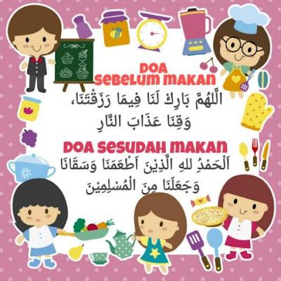 Bacaan Doa Sebelum dan Sesudah Makan atau Minum Arab, Latin Disertai Gambar Kaligrafi Arab