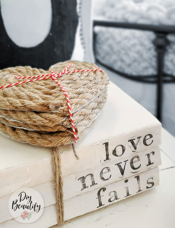 stacked heart-shaped coasters