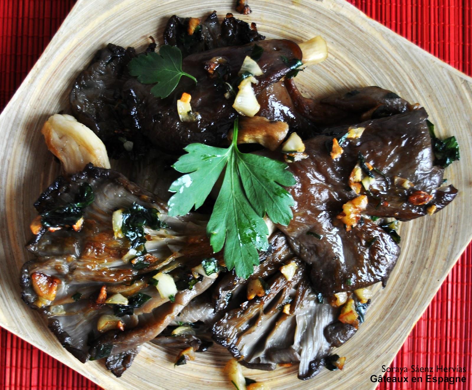 G teaux en espagne - Cuisiner des champignons ...
