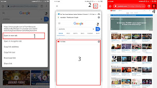 masuk ke youtube desktop site chrome android