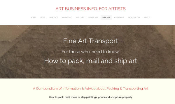 how to pack, mail and ship art