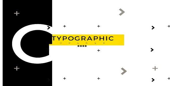 Videohive Typographic Opener 21252800