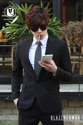 blazer cowok blazercowok.com jaket korean jas pria bk01 e