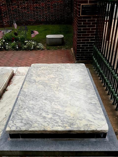 Benjamin Franklin gravesite. Christ Church Burial Ground. Philadelphia, Pennsylvania
