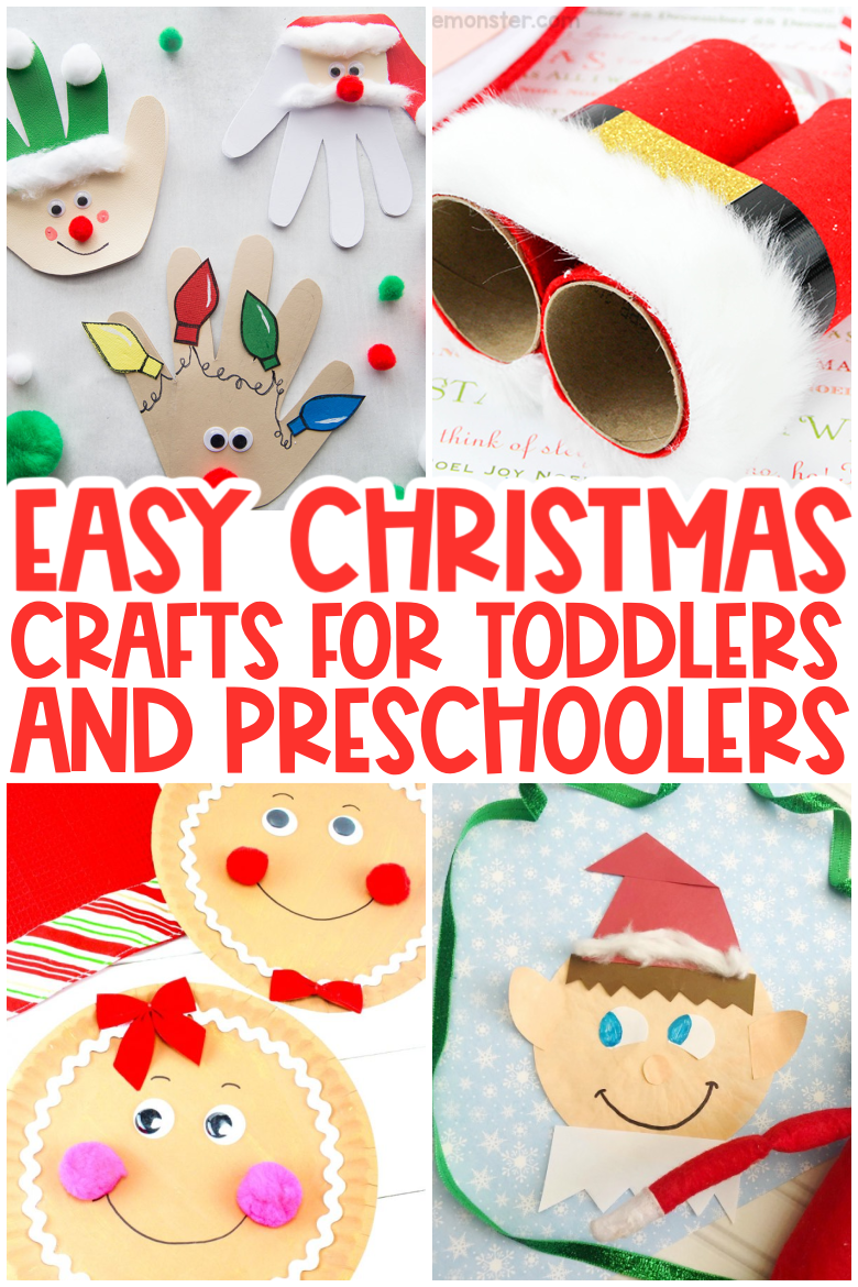 Easy Christmas crafts for toddlers and preschoolers