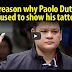 PANOORIN: The real reason Paolo Duterte refused to show his tattoo!