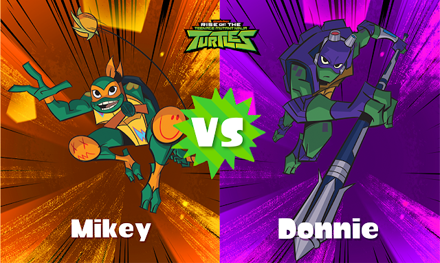 Splatoon 2 Splatfest Rise of the Teenage Mutant Ninja Turtles TMNT Mikey vs. Donnie Michelangelo Donatello