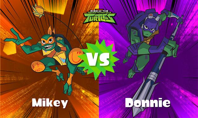 Splatoon 2 Splatfest Rise of the Teenage Mutant Ninja Turtles TMNT Mikey vs. Donnie Michelangelo Donatello