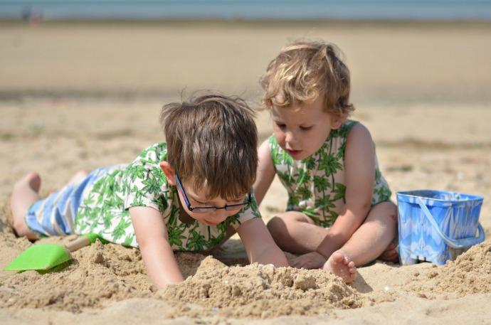 egg by susan lazar, kids beach wear