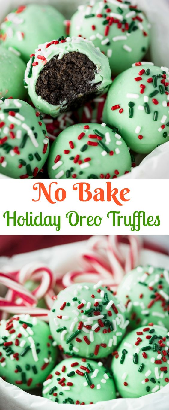 No Bake Holiday Oreo Truffles
