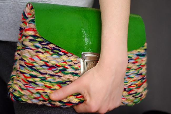DIY Knitted Clutch Bag Tutorial