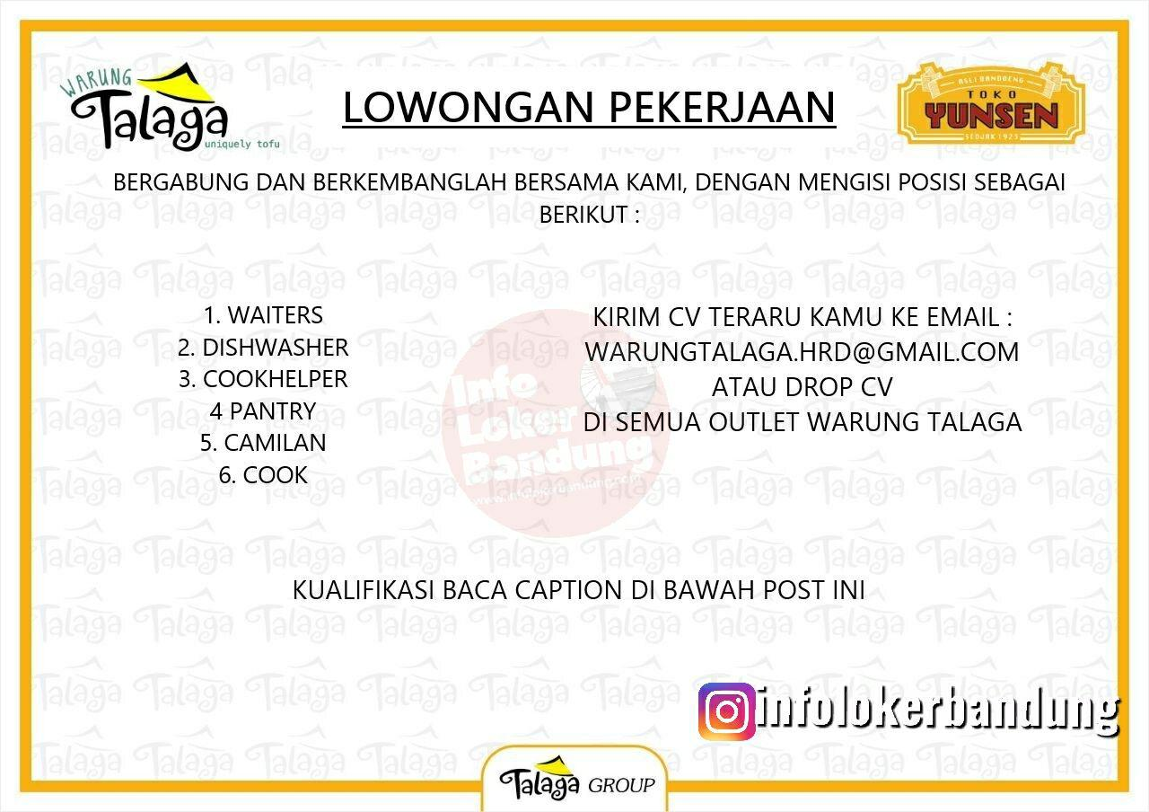 Lowongan Kerja Warung Talaga Bandung Juni 2019