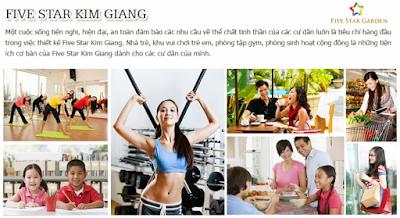 Tiện ích dự án Five Star Kim Giang