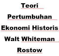 Teori Pertumbuhan Ekonomi Historis Walt Whiteman Rostow