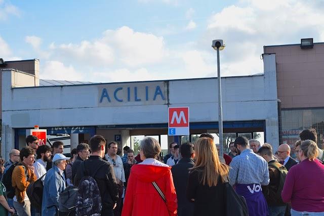 Metro E: La manifestazione di Acilia