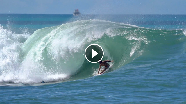 Surfing Ala Moana Bowl BIG Swell