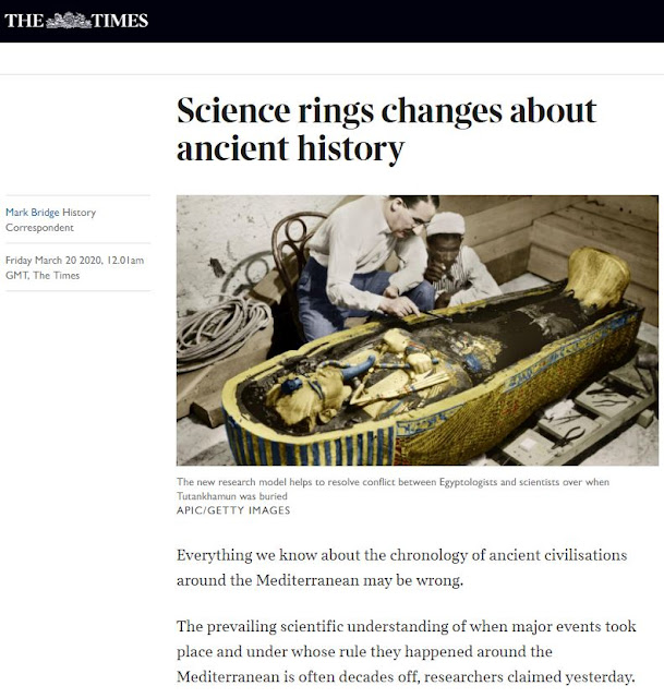 صحيفة The Times البريطانية التسلسل الزمني للحضارات القديمة حول البحر الأبيض المتوسط قد يكون خاطئًا