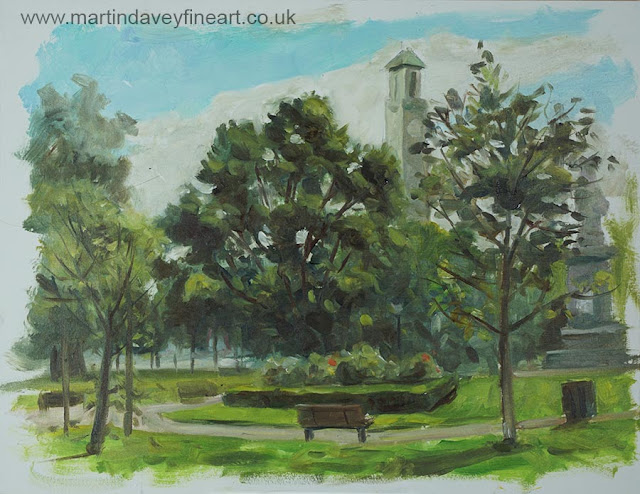 East park southampton plein air art