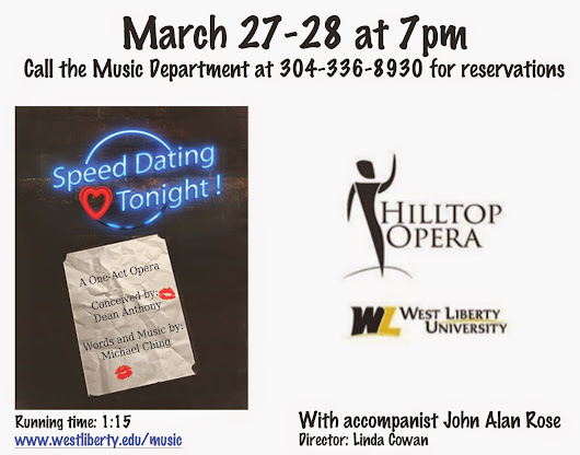 SPEED DATING TONIGHT! in West Virginia, BUOSO'S GHOST in Texas