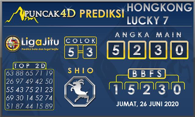 PREDIKSI TOGEL HONGKONG LUCKY 7 PUNCAK4D 26 JUNI 2020