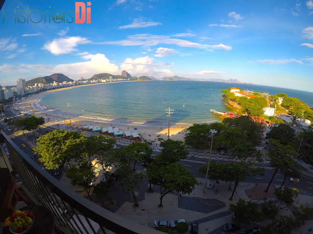 Vista do Quarto do meu Day Use no Sofitel Copacabana
