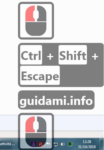Carnac per Windows popup in sovrimpressione dei tasti premuti su tastiera e mouse