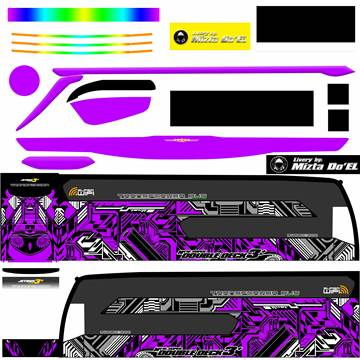 Livery JB3+ SDD MD Creation Electrical Purple