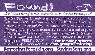 what men gain through foreskin restoration