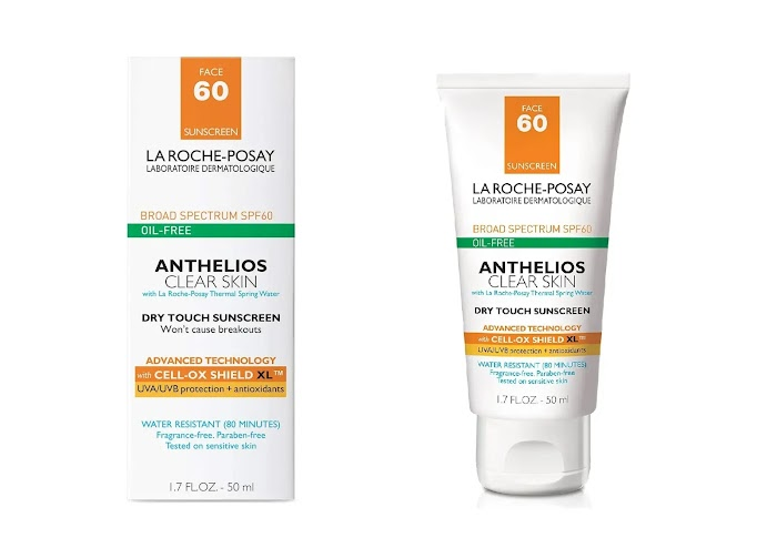 la roche-posay anthelios 60 clear skin dry sunscreen review