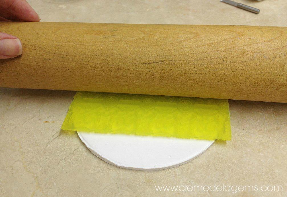 Creme De La Gems Diy Textured Polymer Clay Trinket Bowl