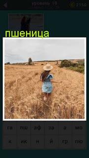 девушка в шляпе идет по полю с пшеницей 18 уровень 667 слов