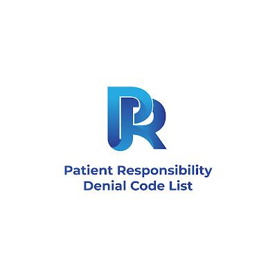 PR - Patient Responisibility denial code list
