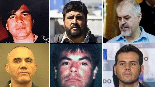 Fechas de liberación y condenas de estos y otros capos de la vieja escuela