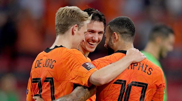 ملخص واهداف مباراة هولندا وتركيا (6-1) تصفيات كاس العالم