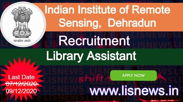 Library Assistant at Indian Institute of Remote Sensing, Dehradun