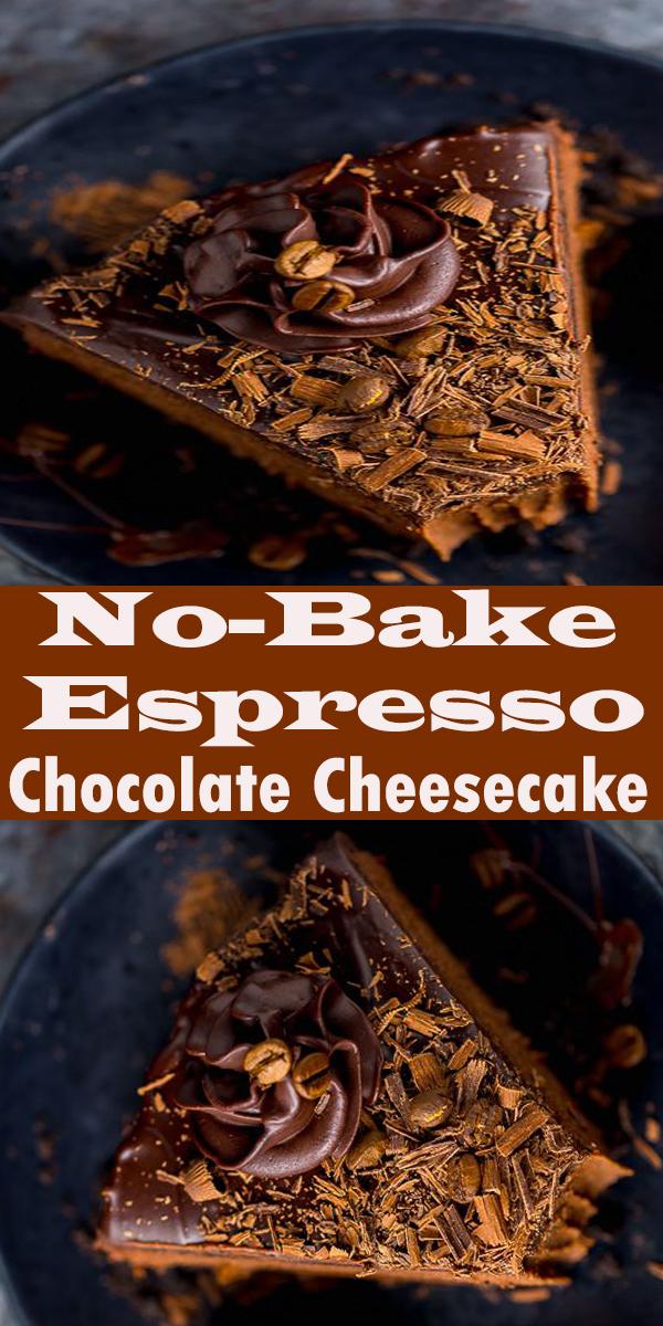 No-Bake Espresso Chocolate Cheesecake #No-Bake #Espresso #Chocolate #Cheesecake #No-BakeEspressoChocolateCheesecake