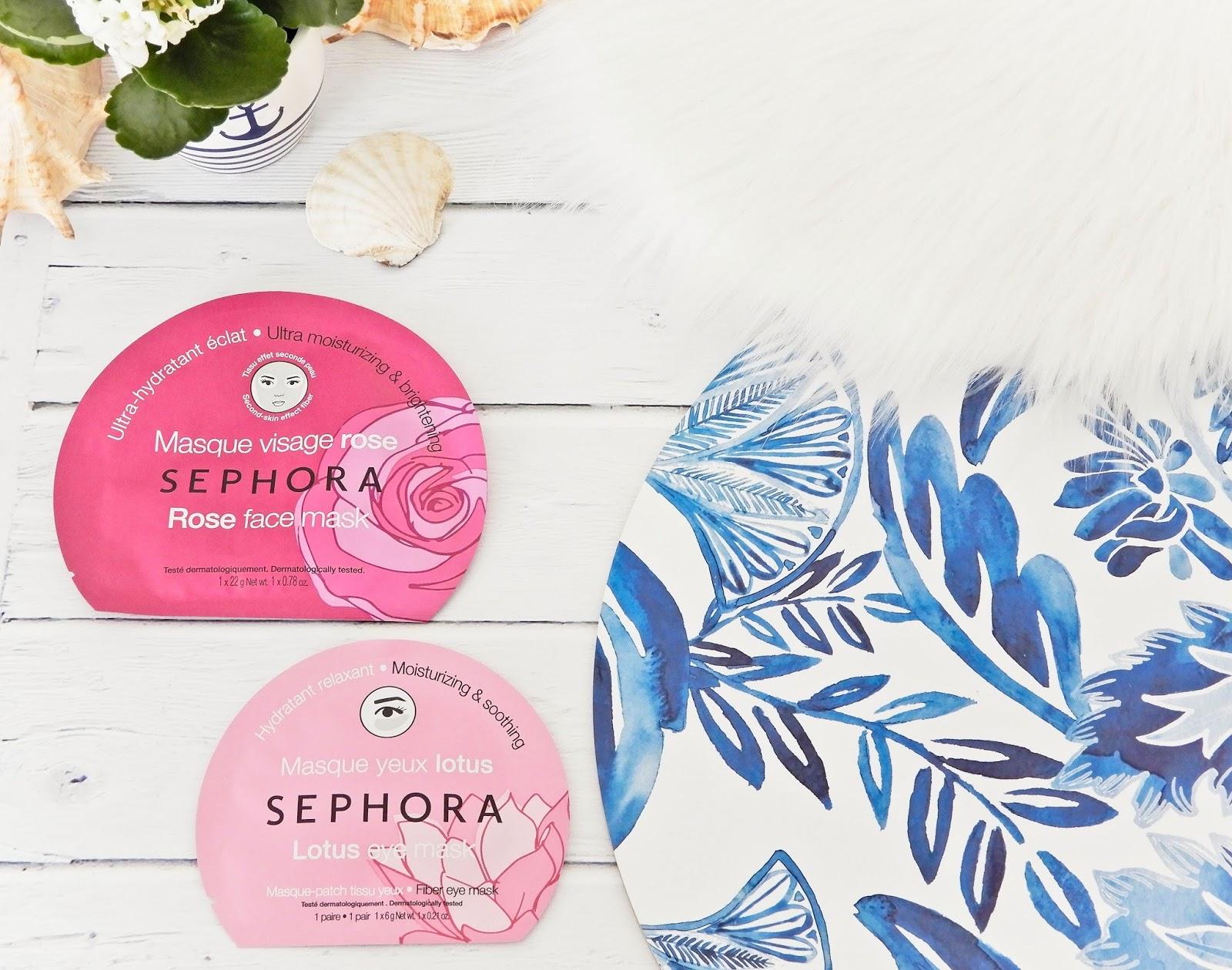 Sephora, maseczki Sephora, sephora maseczki w płachcie, haul zakupowy,