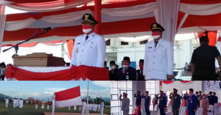 Wakil Bupati Kerinci Ami Taher Pimpin Upacara Penurunan Bendera Merah Putih HUT RI ke-76