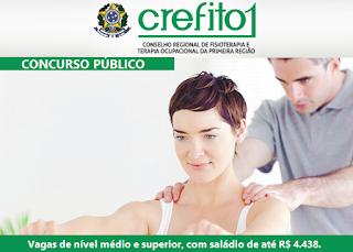 apostila pdf Crefito-1ª Região Assistente Administrativo (Grátis Testes),